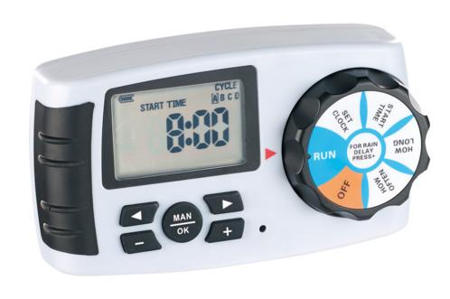 Programmateur d'arrosage BWC-400 avec sélecteur et 4 valves