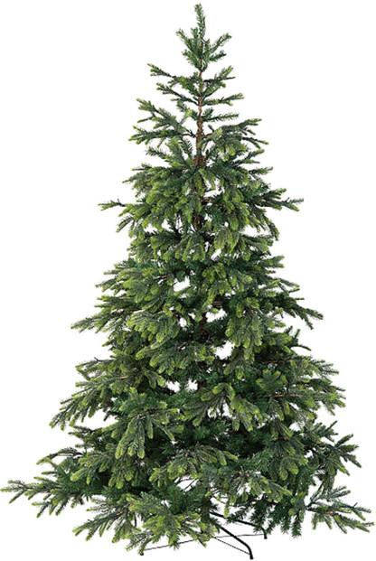 Sapin de Noël artificiel vert 500 LED / 857 branches / 225 cm