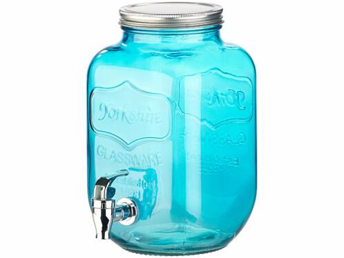 set de verres retro vintage avec carafe distributeur avec robinet et verres conserve avec paille lavable verre de couleur