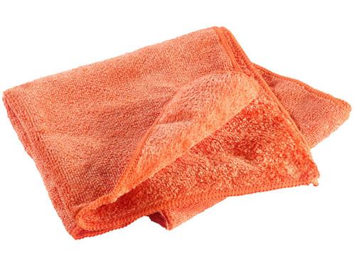 Serviette en microfibres double face 80 x 40 cm - Orange