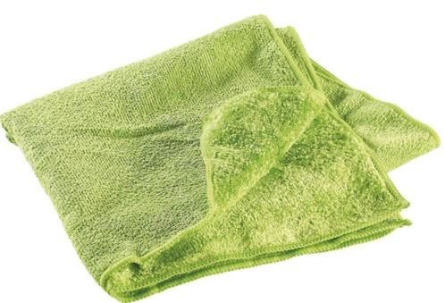 serviette de sport en microfibres double face super absorbant doux 80 x 40 cm vert semptec