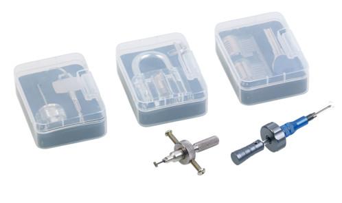 extension kit apprentissage crochetage avec serrures d'entraînement et outils pour serrure a disque et serrure à cylindre croisé