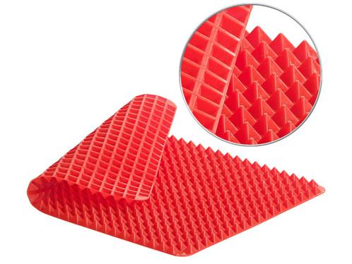 Tapis de cuisson en silicone avec revêtement antiadhésif et picots pyramidaux