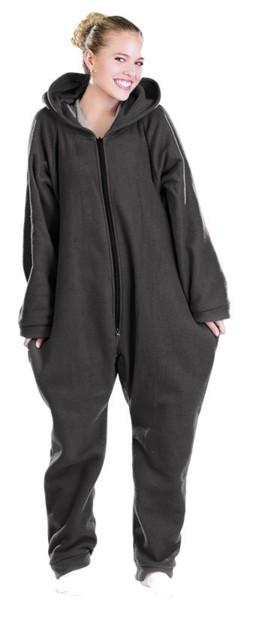 Tenue d'intérieur en textile polaire - noir - taille XXL