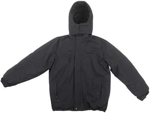 veste d'hiver avec pads chauffants et capuche amovible couleur noir intérieur polaire taille L pour homme