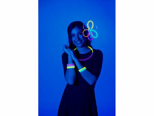 pack de 100 tubes lumineux fluorescents pour clubbing fete cocktails