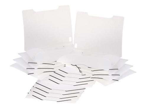 16 chemises plastiques à rabats et élastiques - Transparent