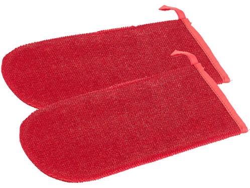2 gants nettoyants textile