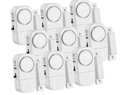 9 mini-alarmes pour portes et fenêtres