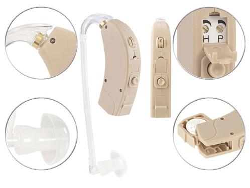 amplificateur auditif jusqu'à 69 db pour malentendants personnes agees seniors avec boitier