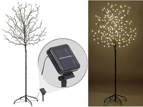 Arbre lumineux 150 cm avec 200 bourgeons à LED - Solaire