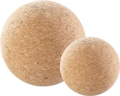 Balles de massage et d'exercice en liège Ø 6,5cm, Ø 10cm