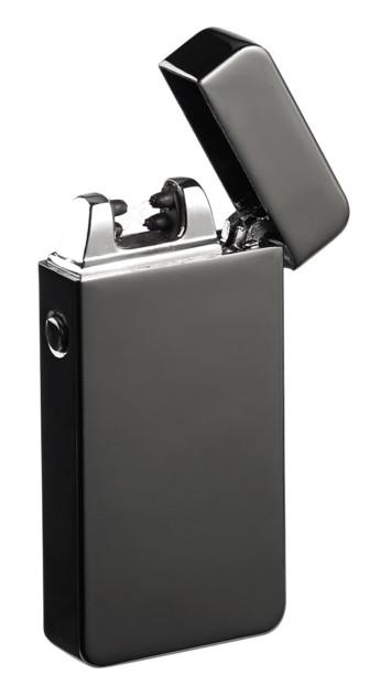 Briquet électronique USB à double arc électrique - Noir