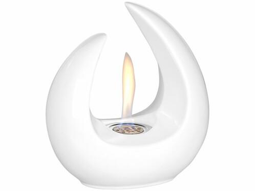 Brûleur de table décoratif au bioéthanol, 53ml, blanc