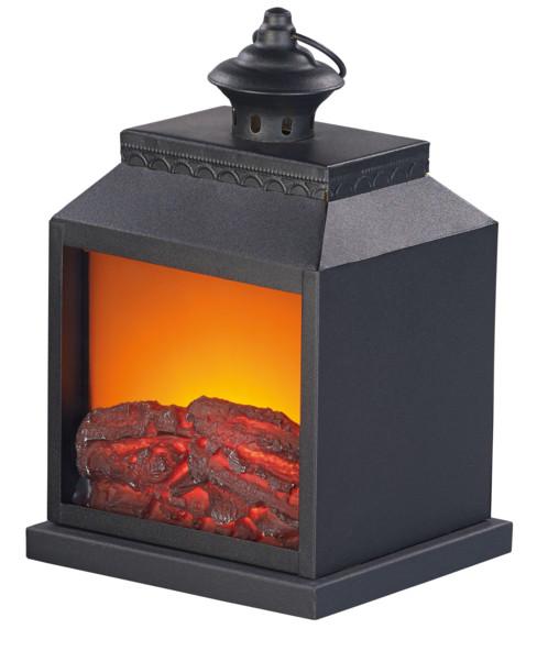 Cheminée décorative avec effet flamme réaliste - Piles (reconditionnée)