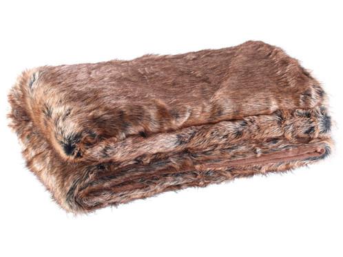 couverture plaid en fausse fourrure 200 cm style zibeline ou renard. Black Bedroom Furniture Sets. Home Design Ideas