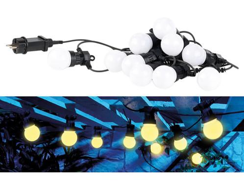 Guirlande guinguette 4,50 m 10 ampoules LED 3W - Blanc chaud