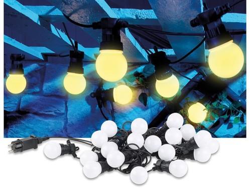 Guirlande guinguette 9,50 m 20 ampoules LED 6W - Blanc chaud