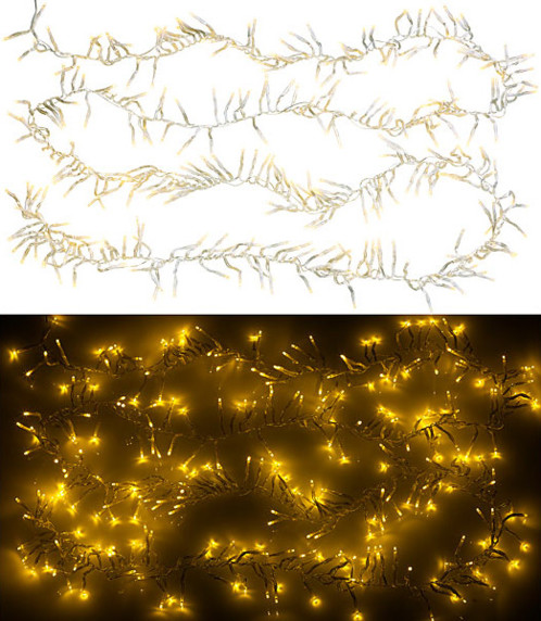 Guirlande lumineuse tombante 3 m à 300 LED - Blanc chaud