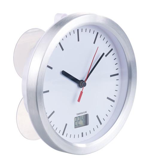 Horloge Radio Pilotée De Salle De Bains Avec Thermomètre LCD Intégré