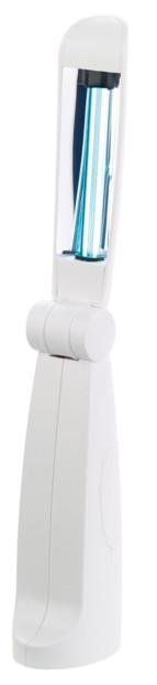 lampe a uv c pliable pour desinfection toilettes germes virus bacteries sans produit chimique