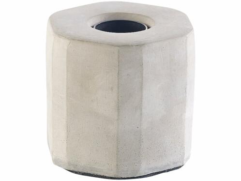 Lampe de table décorative en béton E27 jusqu'à 40 W coloris gris