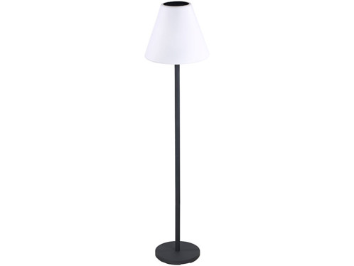 lampe sur pied d 39 ext rieur solaire avec led couleurs et enceinte. Black Bedroom Furniture Sets. Home Design Ideas