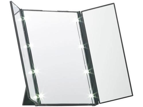 Miroir triptyque lumineux avec support