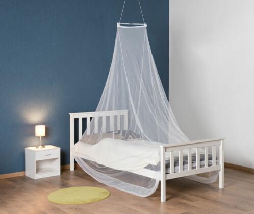 Moustiquaire en dôme pour lit simple, maille 156, blanche