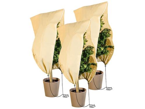 Pack de 3 housses d'hivernage L - 100 x 80 cm, 80 g/m²