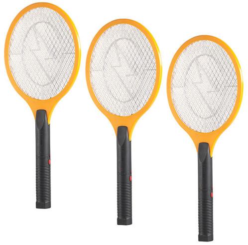 Pack de 3 raquettes électriques anti-insectes - Rechargeable par USB