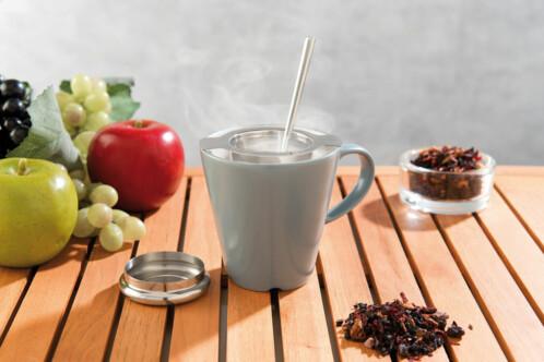 passe thé boule a thé en inox avec couvercle egouttoir pour thé et tisane