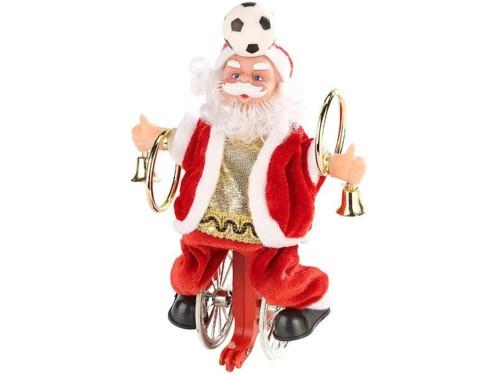 Père Noël acrobate animé