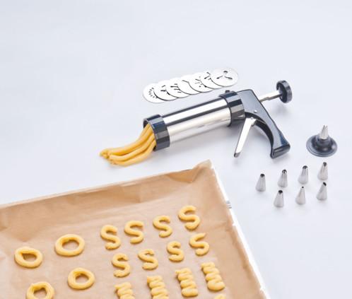 Pistolet à pâtisserie avec disques à biscuits et douilles