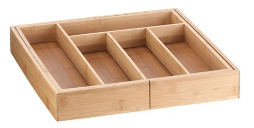 range couverts en bois de bambou avec largeur réglable de 36 à 60 cm
