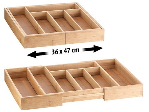 Range-couverts extensible à 5/7 compartiments - x2