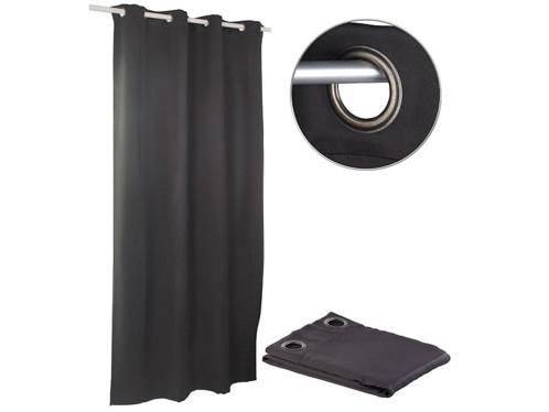 Rideau occultant 145 x 245 cm avec œillets 4 cm - coloris noir
