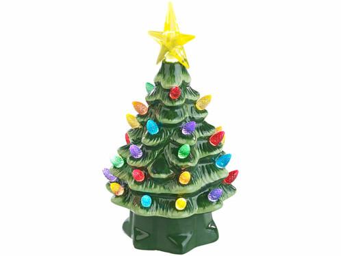 Sapin de Noël à LED 19 cm en céramique