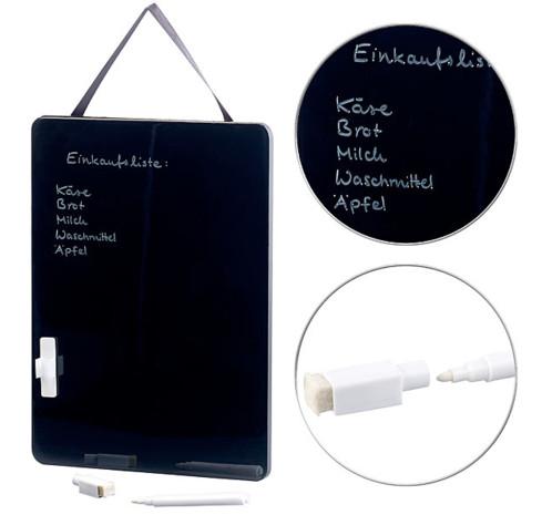 tableau noir memo 27 cm pour feutre blanc à suspendre cuisine salon chambre infactory