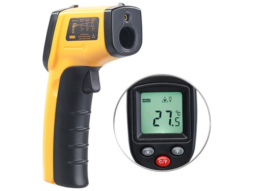 Thermomètre infrarouge sans contact de -50 à 380 °C avec pointeur laser