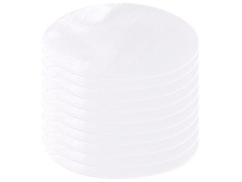 10 patchs thermocollants en coton - coloris blanc
