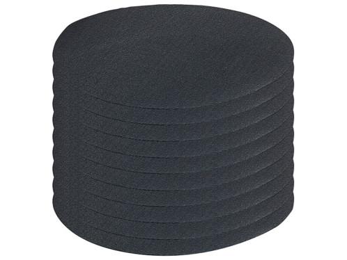 10 patchs thermocollants en coton - coloris noir