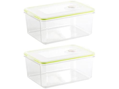 2 boîtes rectangulaires pour mise sous vide - 2,6 L