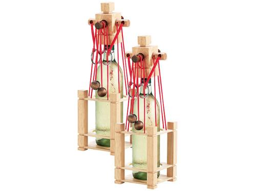 2 casses-têtes en bois pour bouteille - difficulté difficile