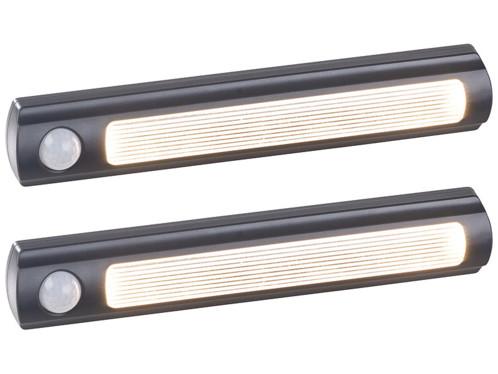 2 lampes de placard sans fil à LED avec détecteur - 25 lm - Noir
