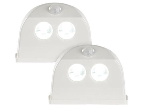2 lampes de porte sans fil à LED avec détecteur - 50 lm - Blanc