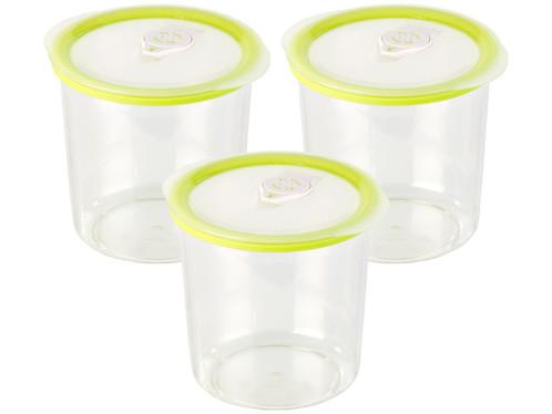 3 boîtes rondes pour mise sous vide -1 L