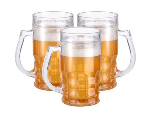 3 chopes de bière rafraîchissantes à double paroi 0,3 litre