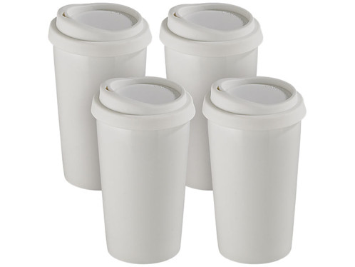 4 gobelets ''Coffee To Go'' - 25 cl