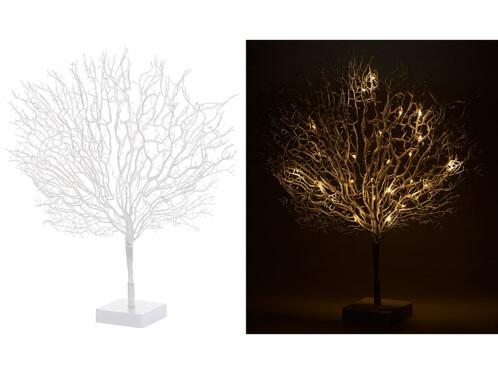 Arbre décoratif design 50 cm à LED - coloris Blanc